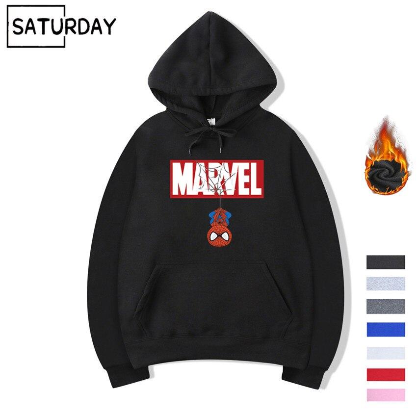 Homme Spiderman Sweat à capuche Hiver Femmes Harajuku Polaire Chaud Super-Héros Sweats Capuches Streetwear sweatshirt à capuche unisexe