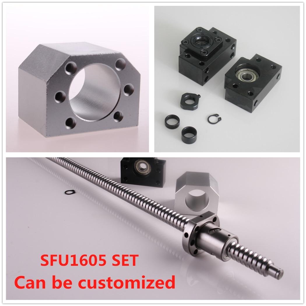 Nouvelle vis à billes SFU1605 360mm avec écrou + 1 jeu BK12/BF12 + boîtier écrou DSG16H pour vis à billes CNC UK Stock