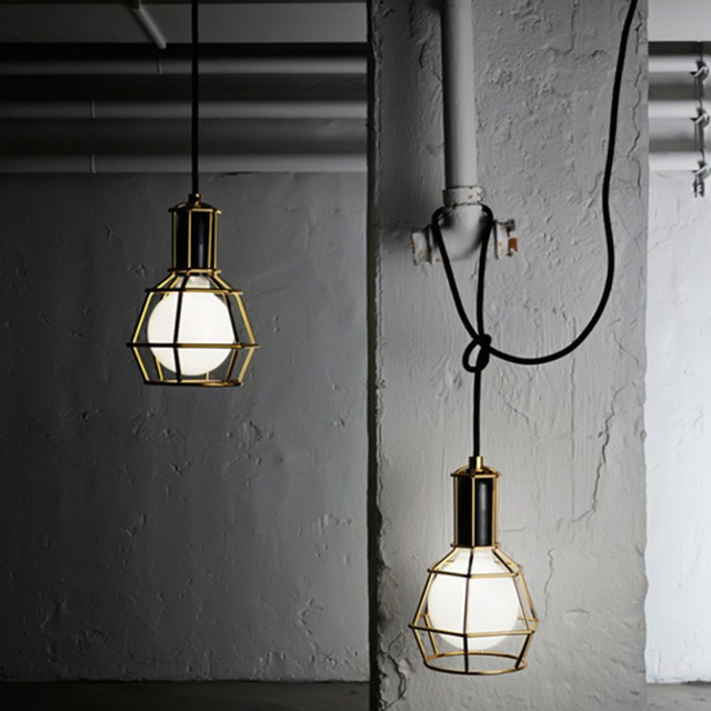 Vintage Metal Pendant Lamp Ceiling Shade Used E27 Bulb Iron Retro Lighting Fixtures Style Light