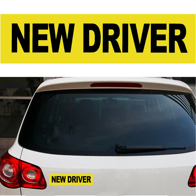 30 x 7 5cm new driver reflective magnetic sticker car vehicle bumper sign safety magnet decal