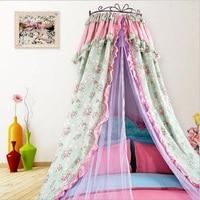 Принцесса дворца москитная сетка Полог двойной кровать навес хлопок Круглые шторы для Комплект постельного белья для девочек сетка палатк
