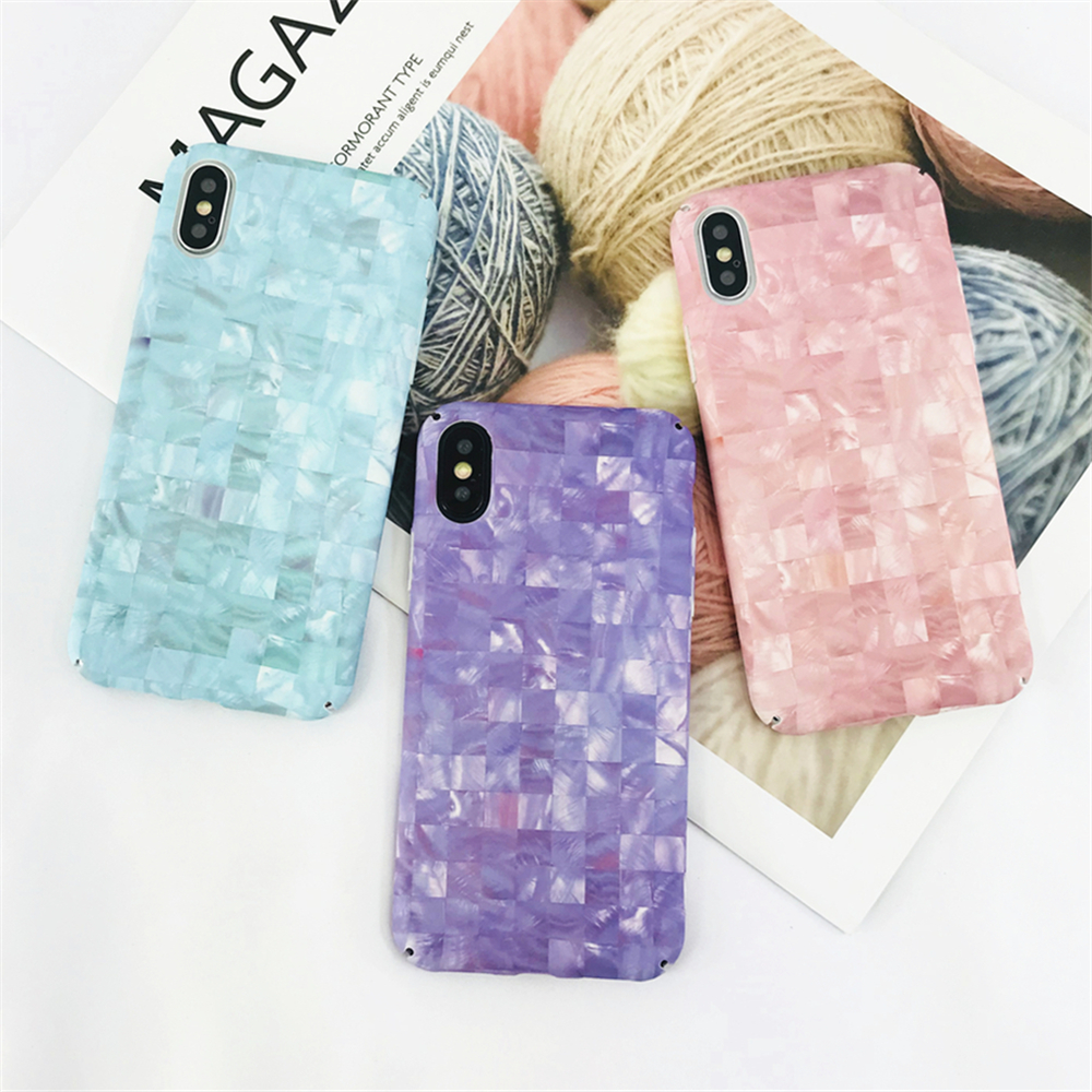 Case For Iphone 7 Case Luxury Conch Shell Phone Cases For Iphone 6 6s 8 X plus Case Hard PC Cute Candy Colors High Quality Capa