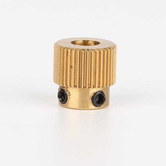 2PCS/lots Mk7/MK8 40 Tooth Brass Drive Gear Planet Reducer Extruder Feeding Gear Extrusion wheel For 3 D Printer part