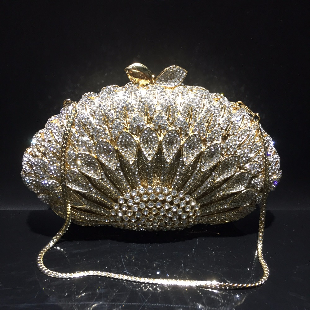 DAIWEI Luxury evening bag Crystal women party purse bags Ladies wedding bridal formal clutch bags banquet bag Day Clutches BL089 стоимость