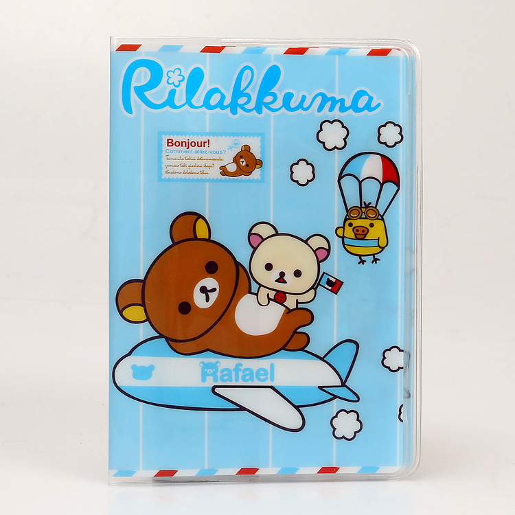PVC Cartoon travel accessories passport Cover with size 5.5*3.8-Easily bear