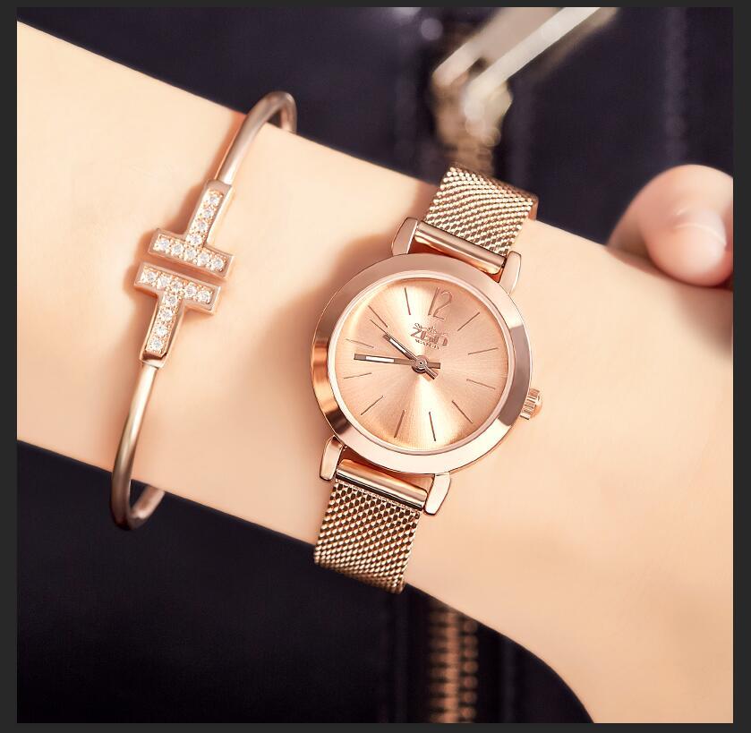 Zgo Luxury Brand Women Quartz Watch Rose Gold Quartz Watches Casual Metal Stainless Steel Wristwatches Hot Sale цена 2017