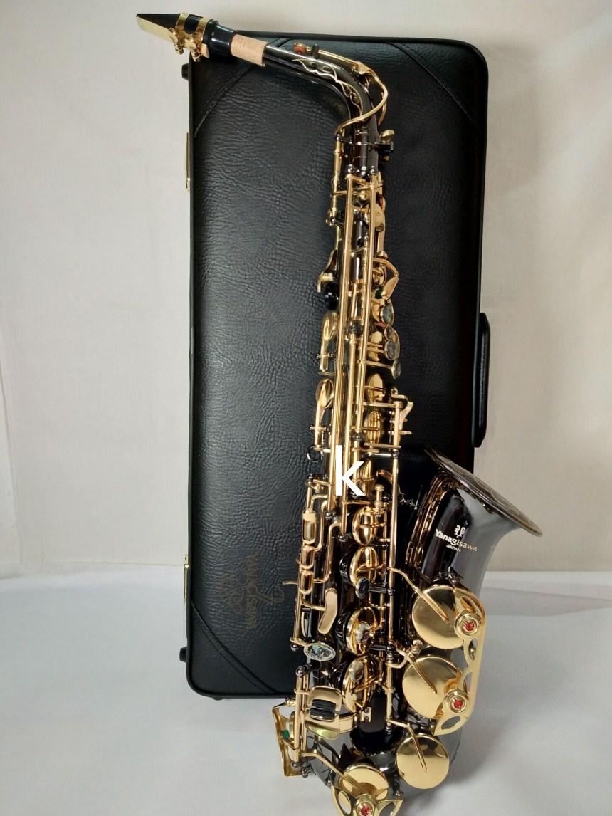 Kalu Magasin Japon Yanagisawa noir Nouveau Saxophone A-991 E Plat Alto Haute Qualité Alto saxophone Super Professionnel Musical