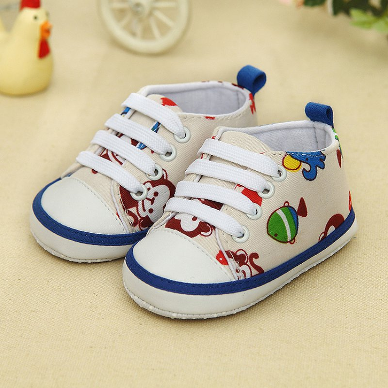 0-18M Newborn Kids Baby Boy Girl Sneakers Lace Soft Sole Toddler Shoes New LL1