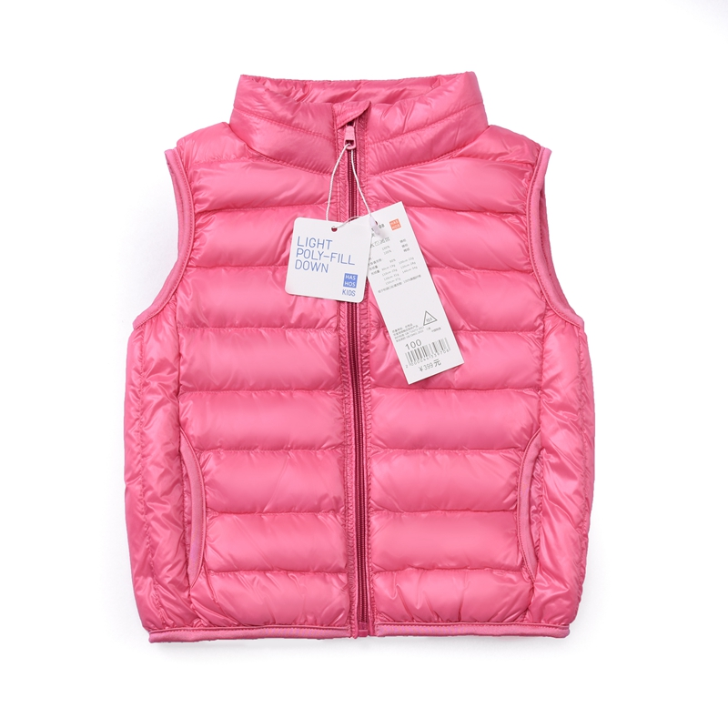 QAZIQILAND 2018 Autumn Winter Kids Outerwear Boys Girls Vest Jacket Solid light white duck down vest Coats Children 39 s Clothes in Vests from Mother amp Kids