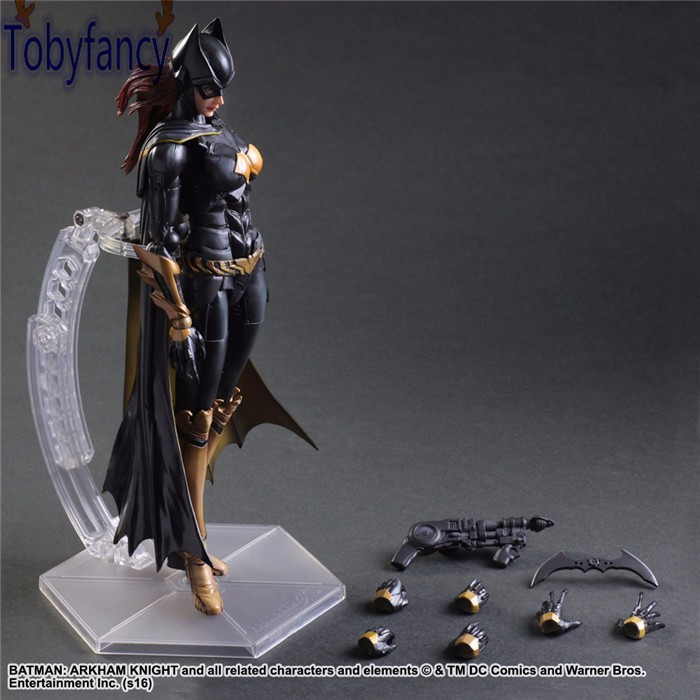 Batgirl Action Figures Play Arts Kai PVC Toys Batman Arkham Knight 260mm Anime Movie Playarts Kai Model Justice League Tobyfancy playarts kai batman arkham knight batman blue limited ver superhero pvc action figure collectible model boy s favorite toy 28cm