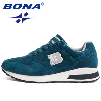 BONA New Arrival Men Running Shoes Lace Up Sport Shoes Outdoor Walking Activities Sneakers Comfortable Athletic Shoes For Men airtight for running shoes sneakers men running woman sport shoes zapatill 2018 runing shoes for women athletic shoes men