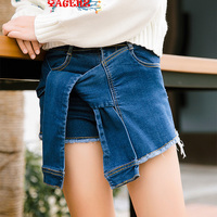 Factory Direct Fashion Leisure Short Paragraph The Old Personality Pure Color School Wild Wild Girl Jeans
