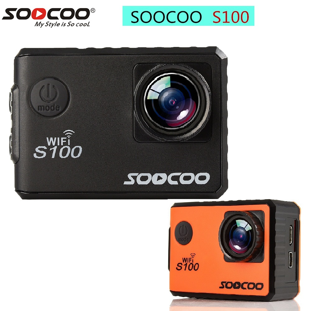 SOOCOO S100 30M Waterproof Wifi Sport Webcam Action Camera 2.0 inch Touch Screen 4K HD Support Remote Control GPS Night Vision soocoo s100 pro 4k wifi action video camera 2 0 touch screen voice control remote gyro waterproof 30m 1080p full hd sport dv