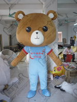 Export High Quality Classical Brown Teddy Bear Cartoon Costume Personality Blue Velcro Suits Teddy Baby Bear
