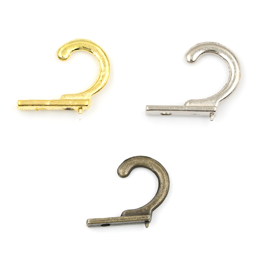 5pcs 21mm  Small Antique Hooks Wall Hanger Curved Buckle Horn Lock Clasp Hook For Wooden Bronze Metal Door Wall Hooks Hanger