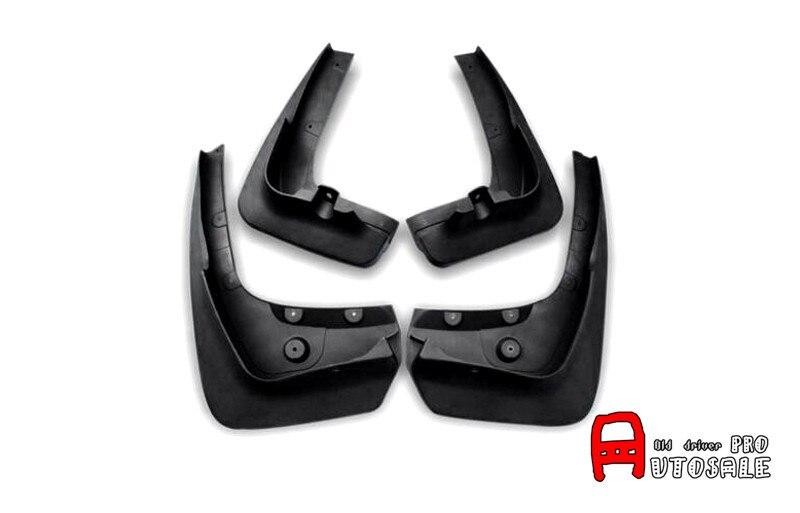 цена на Full Set Molded Splash Guards Mud Flaps Cover 4pcs For BMW X6 E71 2009 2010 2012 2013 2014 High Quality Plastic