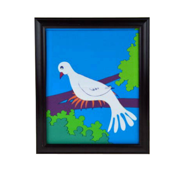 Dove Frame (One Dove Version), Dove Appearing From Picture,Magic Tricks,Stage,Illusions,Accessories,Gimmick,Prop,Comedy