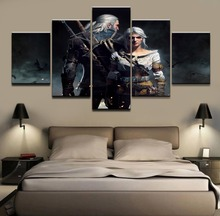 5 Pieces Game The Witcher 3 Wild Hunt Ciri Geralt of Rivia Canvas Painting Wall Art Home Decor Living Room Canvas Print Artwork все цены