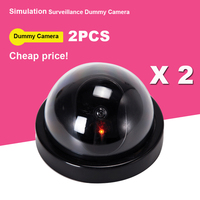 2pcs Fayele Security CCTV Simulation Fake Camera Dome Dummy Camera Surveillance Cheap Price Dummy Camera With