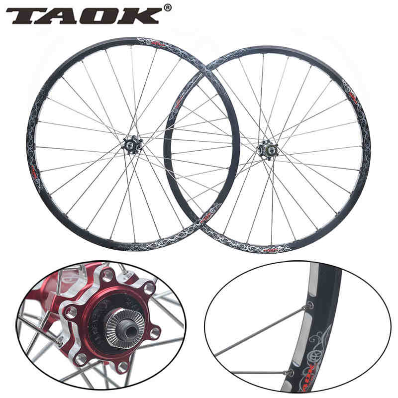 TAOK 26-inch mountain bike wheels Peilin straight pull disc wheels a bicycle bearing wheels 24-hole rims Alloy double Hub germany twitter straight disc hubs lightweight four perlin mountain bike hub bearing straight pull hubs