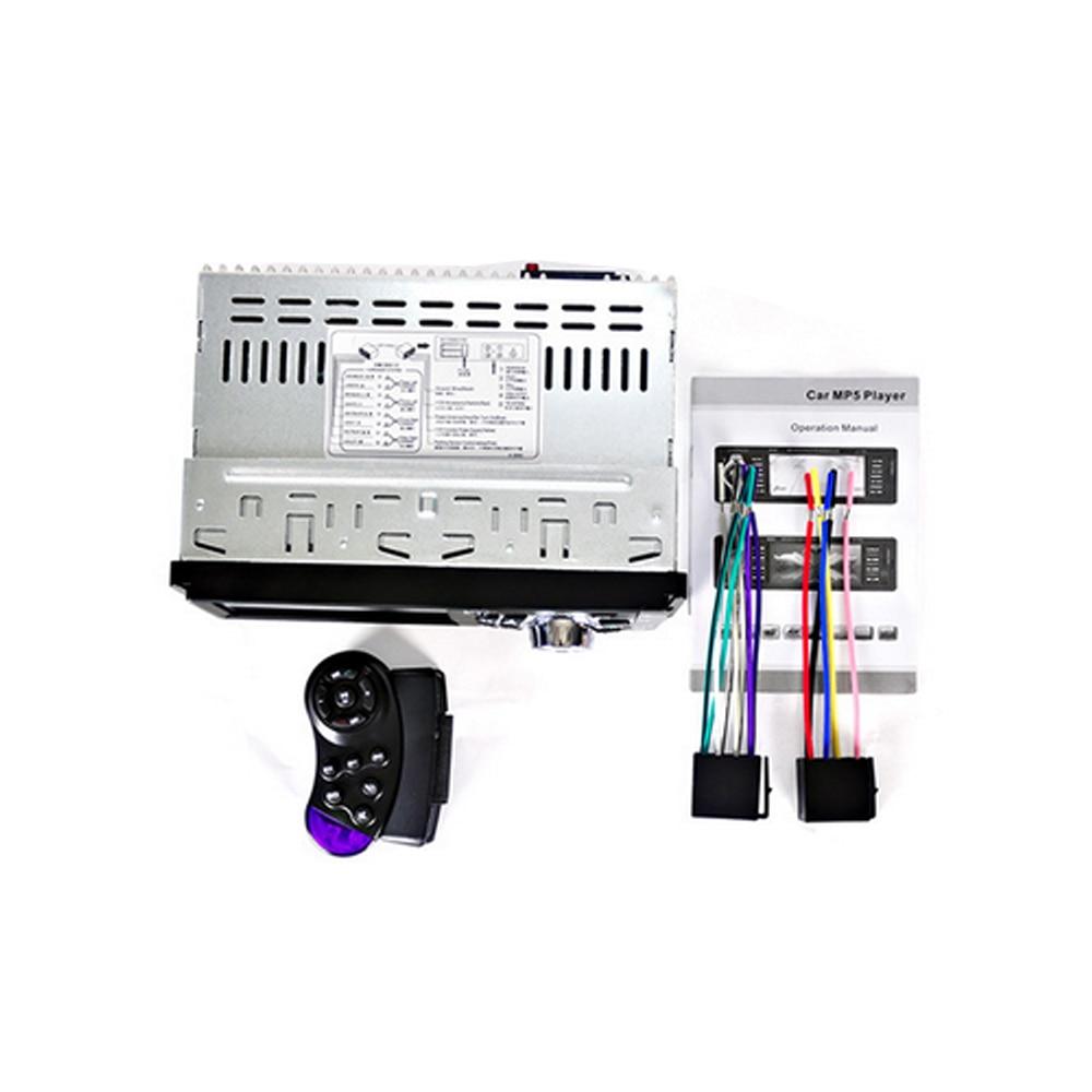 Podofo 4.1 pouces HD 1 Din Auto autoradio lecteur MP3 MP5 Audio stéréo Radio Bluetooth FM télécommande avec caméra de recul - 6
