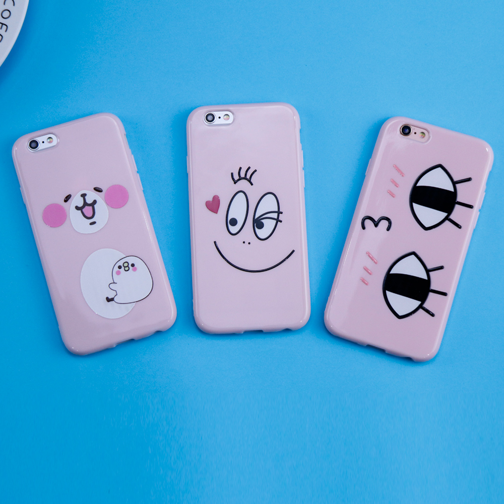 For iphone 6 Case Fashion Clear Smiley Faces Emoticon Case for iphone 7 Case Soft TPU Expression Cover Coque For iphone 8 Case