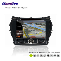 Liandlee For Hyundai Maxcruz / Santa Fe / ix45 Car Radio DVD Player GPS Navigation Advanced Wince & Android 2 in 1 S160 System
