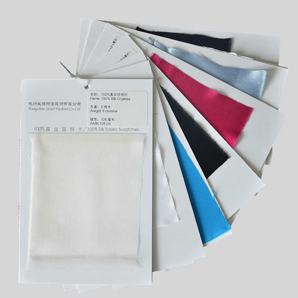 Update SILK FABRIC SWATCH 100% Natural Silk Fabric 20 Types of Different Silk Fabric Samples silk natural textile color card