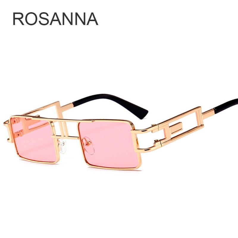 ROSANNA New 2018 Multi Shades square Steampunk Men Sunglasses Retro Vintage Brand Designer Sunglasses Women Fashion Summer