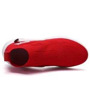 Image 2 - Fevral 女性カジュアルシューズファッション通気性エアーメッシュ快適黒、白、赤スニーカー高品質ファッションの女性の靴