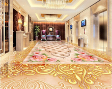 beibehang High fashion wallpaper marble soft package three-dimensional flower classical stone floor papel de parede 3d