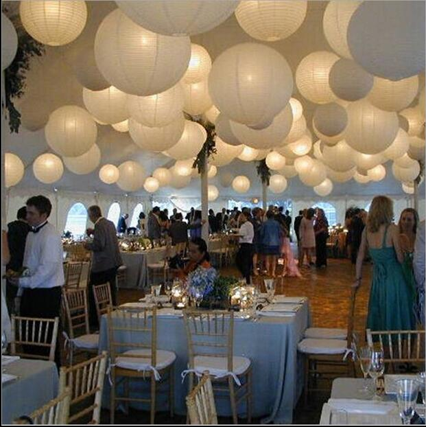 12pcs 20cm 30cm White Chinese Paper Lanterns Party Decorations Hanging Balloons Wedding Supplies