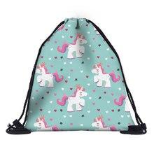 Dropshipping free shipping 1pc Women geometric Backpack 3D printing travel softback women mochila drawstring bag mens backpacks