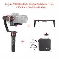 Feiyu a2000 3-Axis Cardan Stabilisateur pour Canon 5D Série/SONY A7 Série a6500, pour Panasonic GH4/GH5, Feiyu Tech + Double Poignée