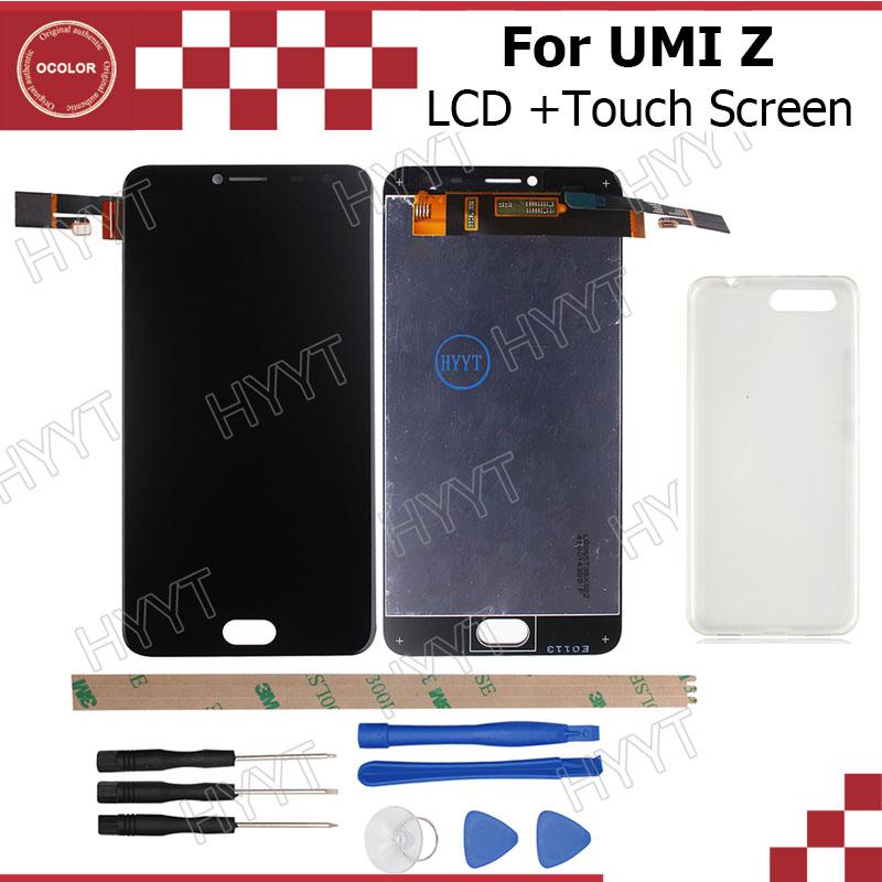 Prix pour UMI Z LCD Affichage et Écran Tactile D'origine 1920x1080 Assemblée Réparation Partie 5.5 pouce Pour UMI Z/UMI Z PRO + Étui En Silicone + Outils
