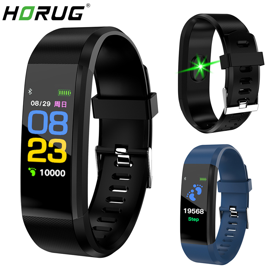 HORUG Smart Wristband Fitness Bracelet For Xiaomi Mi Band Smart Bracelet Blood Pressure Smart Band Pedometer Heart Rate Monitor-in Smart Wristbands from Consumer Electronics