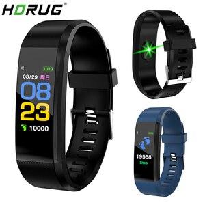 Image 1 - HORUG pulsera inteligente Fitness pulsera para Xiaomi mi Band pulsera inteligente de presión arterial banda inteligente podómetro Monitor de ritmo cardíaco