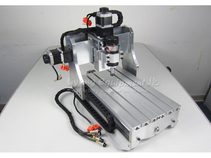 Small cnc milling machine 3020 Z D300 engraving machine, CNC router/ cutter made in china 300W Spindle