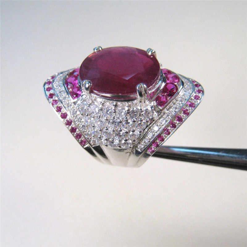 Étnica Pedra Vermelha Anel de Venda Quente Anel Da Princesa Big Cristal Rhinestone Anel para Anel de Casamento mulheres Jóias Z35