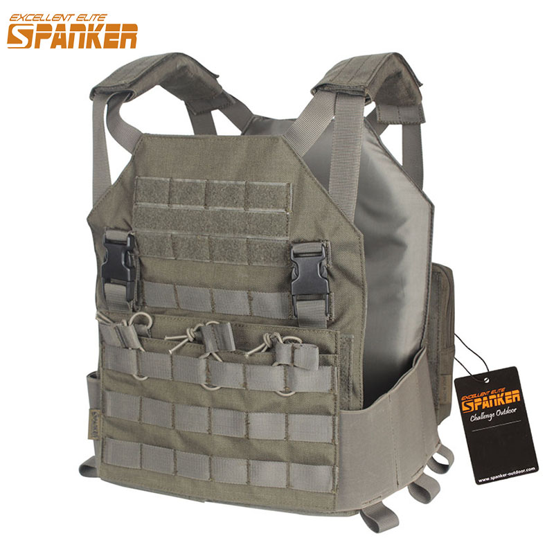 EXCELLENT ELITE SPANKER Outdoor Tactical Molle Vest Plate Carrier Military Army AMP Vest M4 Accessory Suit For Men Hunting Vests