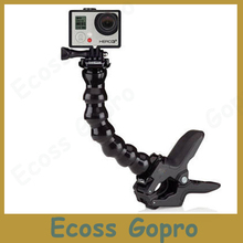 Go Pro Accessories Adjustable Neck gopro camera Jaws Flex Clamp Mount Flexible Tripod for Gopro hero 4/3+3/2 Camera Accessories