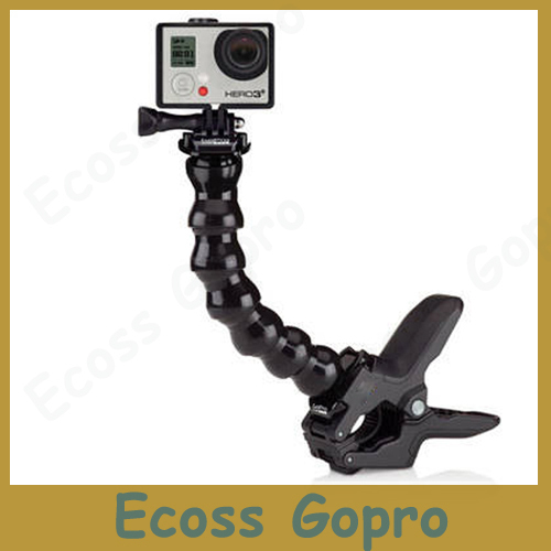 Go pro accesorios de cuello ajustable cámara gopro mandíbulas flex clamp trípode flexible de montaje para gopro hero 4/3 3/2 accesorios de la cámara