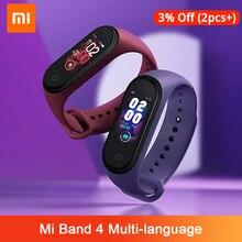 Xiaomi Mi Band 4 מקורי מוסיקה חכם Miband 4 צמיד קצב לב כושר 135mAh צבע מסך 50M עמיד למים bluetooth 5.0