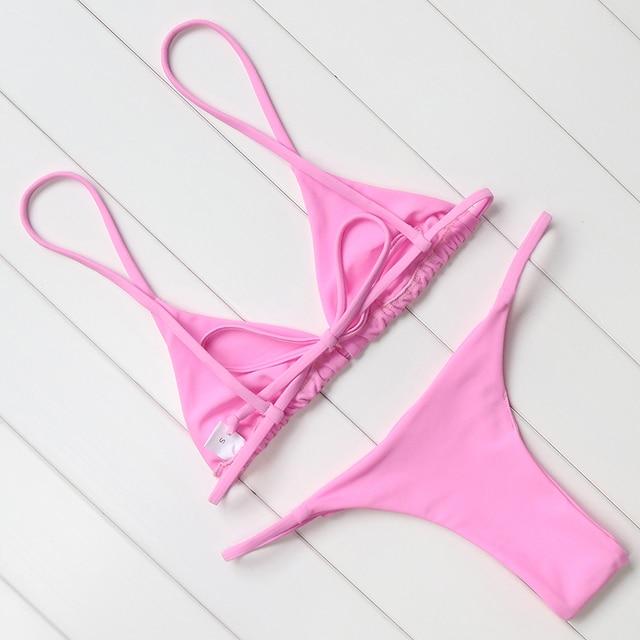 Sexy Brazilian Push Up Bikini Swimwear Women Micro Swimsuit B1565 11