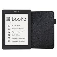Caso de la cubierta de cuero en folio de la PU funda de cuero protectora para 2015 nueva llegada lector de libro de bolsillo 2 envío gratis