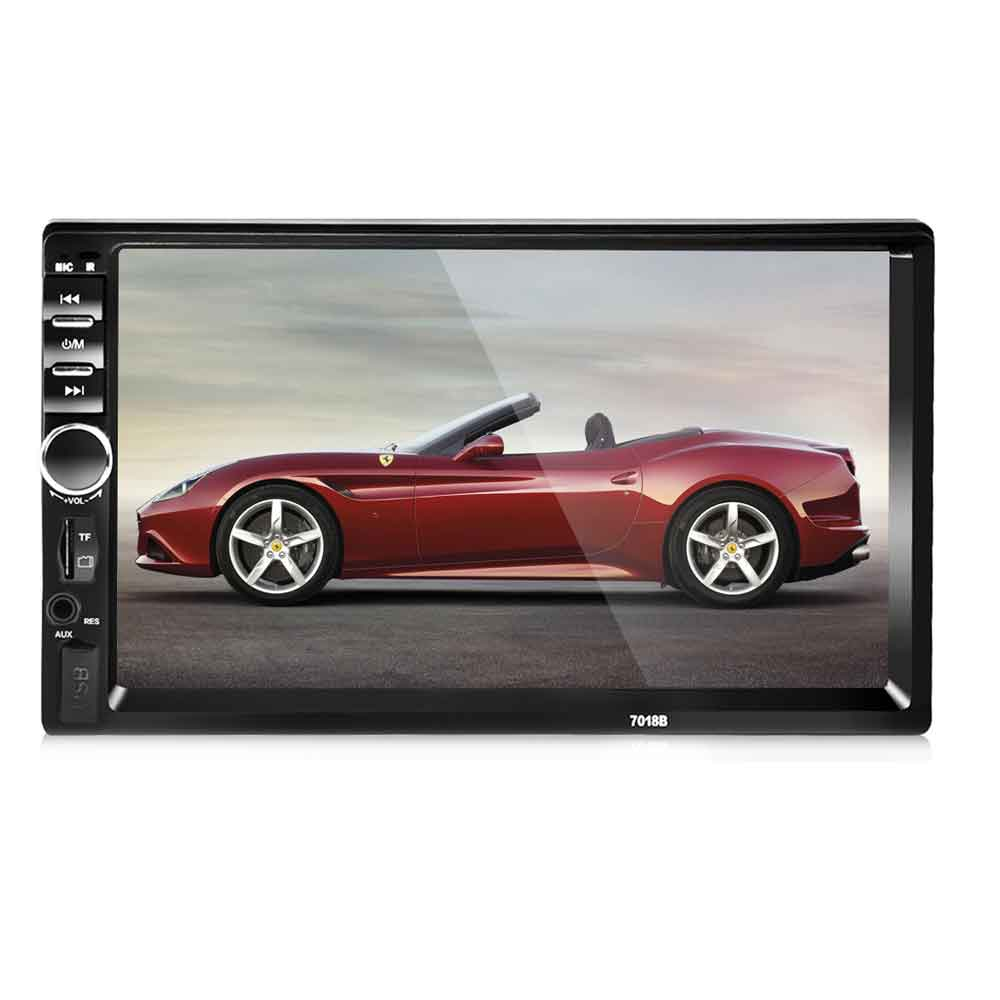 7018B 2 Din Car Video Player Support Rear View Camera Auto Audio Stereo MP5 Player 7 inch 2Din Car Player USB FM Bluetooth 2015 new support rear camera car stereo mp3 mp4 player 12v car audio video mp5 bluetooth hands free usb tft mmc remote control