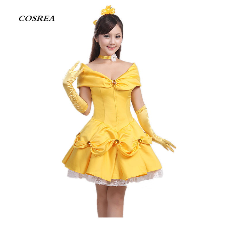 Movie Beauty and the Beast Cosplay Costume Princess Belle ...