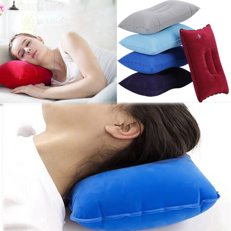 7 Colors Inflatable Travel Folding Neck Pillow Mini Travel Pillow Ultralight Air Inflatable Pillow Outdoor Camping Sleeping Bag