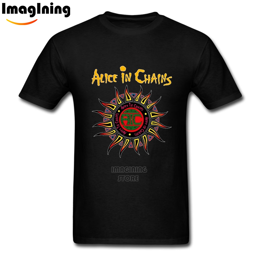 Imagining Store Alice In Chains Unique Men's T-shirt  Cotton  Short Sleeve Man Printed Man Big Size T-shirt