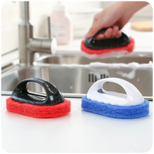 Cleaning sponge with handle household cleaning sponge wash brush sponge wash brush pot emperorship cleaning supplies PT(China (Mainland))